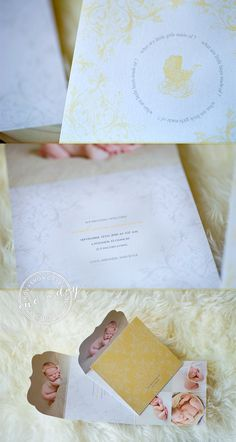 Rococo 5x5 Top Folded Luxe Card - Folded Luxe Cards add an extra level of elegance to your client's cards and announcements.  Plus there is a lot more space to work with - which means a lot more images to showcase! Clients love that!     http://store.millerslab.com/collections/ew-couture/products/mt50-1072     photography by Meg Fish of Love Gives Wings