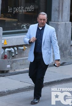 SPOTTED : Kevin Spacey in Old Montreal for the filming of Nine Lives.Source