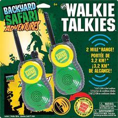 Backyard Safari Walkie Talkies by Poof-Slinky, Inc. - $44.95