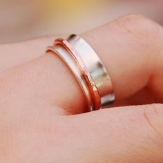 Sterling Silver Spinner Ring Sterling Silver Worry Ring