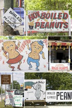 Boiled Peanut Signs