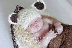Crochet Baby Hat Baby Lamb Hat Baby Girl Hat Baby Boy Hat Animal Hat Newborn Lamb Hat Photo Prop Ivory. $25.00, via Etsy.