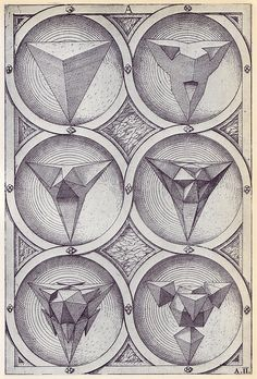 Wenzel Jamnitzer, Perspectiva Corporum Regularium, 1568 / Sacred Geometry <3