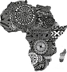 Africa By Design Drawing by Laura Kayon - Africa By Design Fine ...