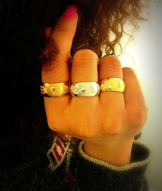 Bvlgari Monologo Diamond & Gold Band Rings