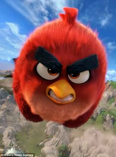 Pictured, the character 'Red' from the movie Angry Birds