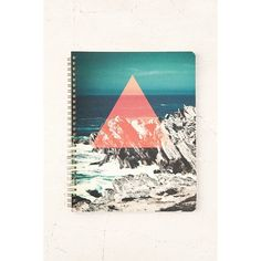 Geo Ocean Notebook (9.47 AUD) ❤ liked on Polyvore featuring home, home decor, stationery and light red
