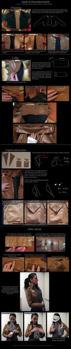 How to make a attack on titan jacket PART 2