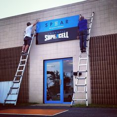 Signage going up! #11days until CrossFit Supercell's #GrandOpening   #Health #Welness #YourExpert #Rockford #Illinois