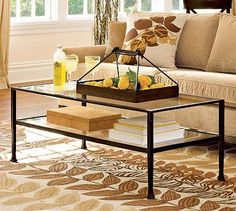 """tanner round coffee table #potterybarn 36"""" diameter, 18"""" high"""