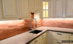 40 Copper Kitchen Backsplashes Wall Tiles Ideas Copper Kitchen Backsplash Copper Backsplash Copper Kitchen