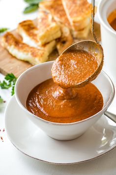 Tomato Basil Soup   thecozyapron.com