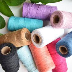 warp thread, cotton warp thread, cotton thread, warp string, cotton warp, warp, weaving warp, twine, string, thread, weaving loom, loom kit #LoomString #BeginnerWeaving #cord #warp #DiyWeaving #fibreshare #LoomKit #WeavingThread #DiyWallHanging #WeavingKit Sugar And Cream Yarn, Types Of Weaving, Macrame Supplies, Macrame Earrings, Loom Weaving, Weaving Techniques, Cotton Thread, Twine, Weave