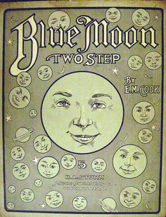 Vintage sheet music Blue Moon Two Step.