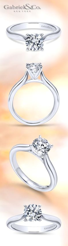 Gabriel & Co. - Voted #1 Most Preferred Bridal Brand. A Classic Solitaire Engagement Ring for a classic love story. Style: ER6684W4JJJ