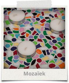 Knutselpakketten Mozaiek www.hip-feestje.nl
