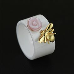Cheap rings for women, Buy Quality ring for directly from China designer ring Suppliers: Lotus Fun Real 925 Sterling Silver Handmade Female Fine Jewelry Nano-Ceramics Rings Cute Bee Round Ring Accessories for Women