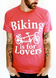 Unisex TANDEM BICYCLE t shirt american by darkcycleclothing, $21.00