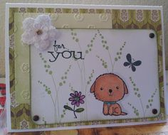 """Cute """"For You"""" card...visit my card shop at http://www.etsy.com/shop/LesleysCardz"""