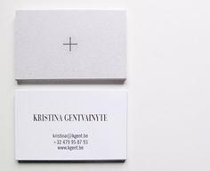 Unique Minimalistic Business Card - Kristina Gentvainyte