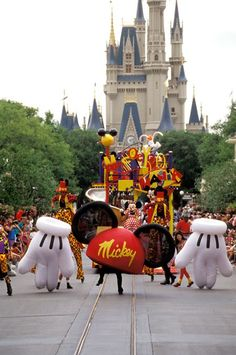 """In the summer of 1994, a new procession called the """"Mickey Mania Parade"""" hit the streets of Magic Kingdom Park to celebrate the one and only Mickey Mo"""