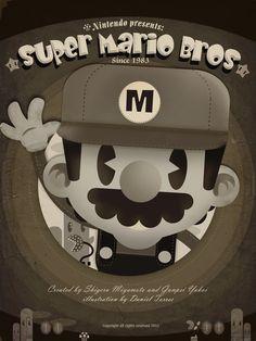 Mario Bros Fan Art Art Print by Danvinci Super Mario Brothers, Super Mario Bros, Super Smash Bros, Super Nintendo, Viewtiful Joe, Deco Gamer, Gamer 4 Life, Mundo Dos Games, Game Of Life