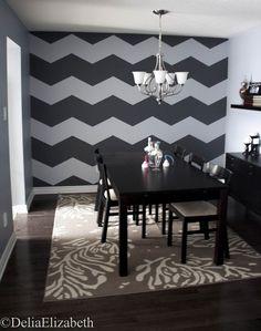 http://vinilosdecorativosmx.com/consejos-de-decoracion/ Decoración de paredes con lineas horizontales chevron