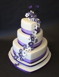 What a pretty cake and would be so easy to change the colors. purple wedding cakes - Google Search