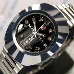 SWISS-MENS-VINTAGE-RADO-DIASTAR-AUTOMATIC-DAY-DATE-BLACK-DIAL-ANALOG-DRESS-WATCH