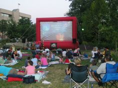 Movies in the Park - Flat Branch Park, Columbia MO. Picture from Columbia Parks and Recreation.