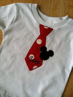Beautiful mickey mouse tie shirt