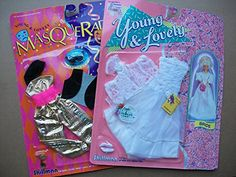 Vintage doll clothes for collector and Barbie lovers! Young & Lovely Barbie Doll Clothes: 2 Sets, Wedding & Masquerade Shillman 1989 & 1990, 11-1/2 inch Dolls Shillman http://www.amazon.com/dp/B00R6PVG00/ref=cm_sw_r_pi_dp_Aulcvb16F79SY