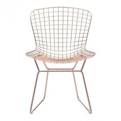 Zuo Modern Wire Dining Chair Rose Gold By ($218) ❤ liked on Polyvore featuring home, furniture, chairs, dining chairs, kitchen & dining room chairs, zuo furniture, wire chair, zuo, mid century style furniture and wire dining chairs