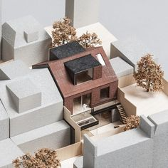 Pitman Tozer Architects has won the go-ahead to build a bronze-clad, end-of-terrace mews house in Kensington Maquette Architecture, Architecture Student, Architecture Drawings, Concept Architecture, Interior Architecture, Architects Journal, Architects Quotes, Mews House, Arch Model