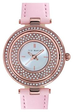 Ted Baker London Crystal Dial Watch, 34mm available at #Nordstrom