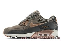 online store 0cfe8 dc0ee Nike WMNS Air Max 90 LTR Maron Noire 768887-201 Chausport NIke Prix Pour  Femme