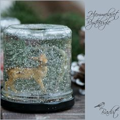 Lav din egen rystekugle I Foods, Snow Globes, Crafts For Kids, Candle Holders, Candles, Christmas, Home Decor, Handmade Gifts, Hand Made