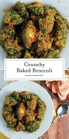 Crunchy baked broccoli tossed in a crisp, tangy mix with two secret ingredients that will make this broccoli recipe your favorite side dish! Crunchy Baked Broccoli - A Oven Baked Broccoli Recip Veggie Side Dishes, Healthy Side Dishes, Side Dishes Easy, Vegetable Dishes, Side Dish Recipes, Vegetable Recipes, Vegetarian Recipes, Cooking Recipes, Healthy Recipes