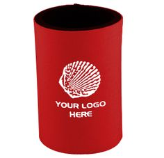 The Stubby Can Cooler ( with base ) has a  large area for your 1 colour printed promotional branding, message or logo customised onto the promotional product in prime viewing position maximising visual advertising potential and brand distribution, great for practical client or customer gifts.