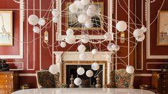 The 28 chandelier series London Design Week, London Design Festival, Bocci Lighting, Pop Up, Team Wallpaper, Wallpaper Magazine, Red Rooms, Light Installation, Dining Room Design