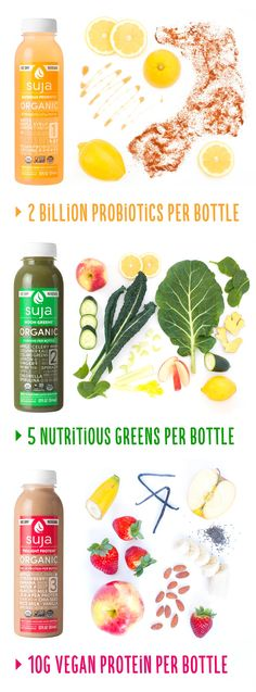 With Suja's organic juices, what you see is what you get. Just pure, whole food ingredients cold-pressed to perfection. Try Daybreak Probiotic, a spicy and sweet lemonade boosted with 2 billion vegan probiotics. To get your veggies enjoy Noon Greens, a nutrient-dense juice with 5 greens. For something more filling grab Twilight Protein, a strawberry almond milk powered with vegan pea protein. Find Suja nationwide and print a coupon to Save $1 on any bottle!
