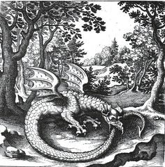 Ouroboros  - Draak (fabeldier) - Lucas Jennis 1609-1631 Wikipedia / Sacred Geometry <3