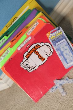 I've been meaning to make some of these velcro file folder games.