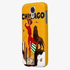 It's cool! This Vintage Chicago Illinois Travel  Samsung Galaxy S4 Cases is completely customizable and ready to be personalized or purchased as is. Click and check it out!