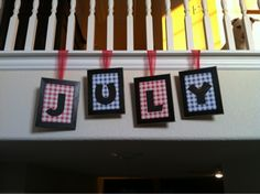 4th of July craft with cheap frames from dollar store.