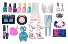 """""""Cotton Candy"""" by myan120 ❤ liked on Polyvore featuring beauty, Valentino, Frame Denim, Zimmermann, Christian Louboutin, Ice, Suzywan DELUXE, Mavala, OPI and Lauren B. Beauty"""