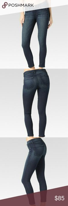"""Paige Verdugo Crop Mid Rise Ultra Skinny sz 30 NWT.  Super stretchy, mid rise, ultra skinny cropped jean with a 26"""" inseam that is slim from the leg down to the ankle, hugging every curve along the way. This pair comes in a dark wash with light fading and whiskering, making it perfect for day-to-night dressing. Finished with a zip fly and single-button closure.  Size 30 Midlake wash.  SPECIFICATIONS  Inseam: 26"""" Leg Opening: 10 1/4"""" 9 oz Fabric 54% Rayon, 23% Cotton, 22% Polyester, 1%…"""