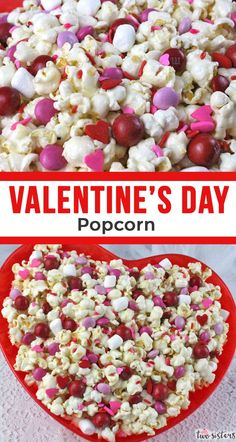 Valentines Day Popcorn is a great Sweet and Salty Popcorn treat – your family will know you love them when you make them this fun Valentines Dessert. We are popcorn obsessed at Two Sisters Crafting. Valentine Desserts, Valentines Day Food, Valentine Treats, Holiday Treats, Holiday Recipes, Valentine Party, Valentinstag Party, Easy, Sweet And Salty