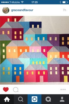 Instagram @graceandfavour. Houses patchwork.
