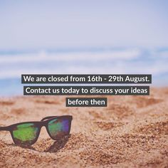 We will be closed from the until the August - get in touch with us today to get your orders in! Web Development, Instagram Feed, You Got This, Seo, Mirrored Sunglasses, Digital Marketing, Wordpress, Web Design, How To Get